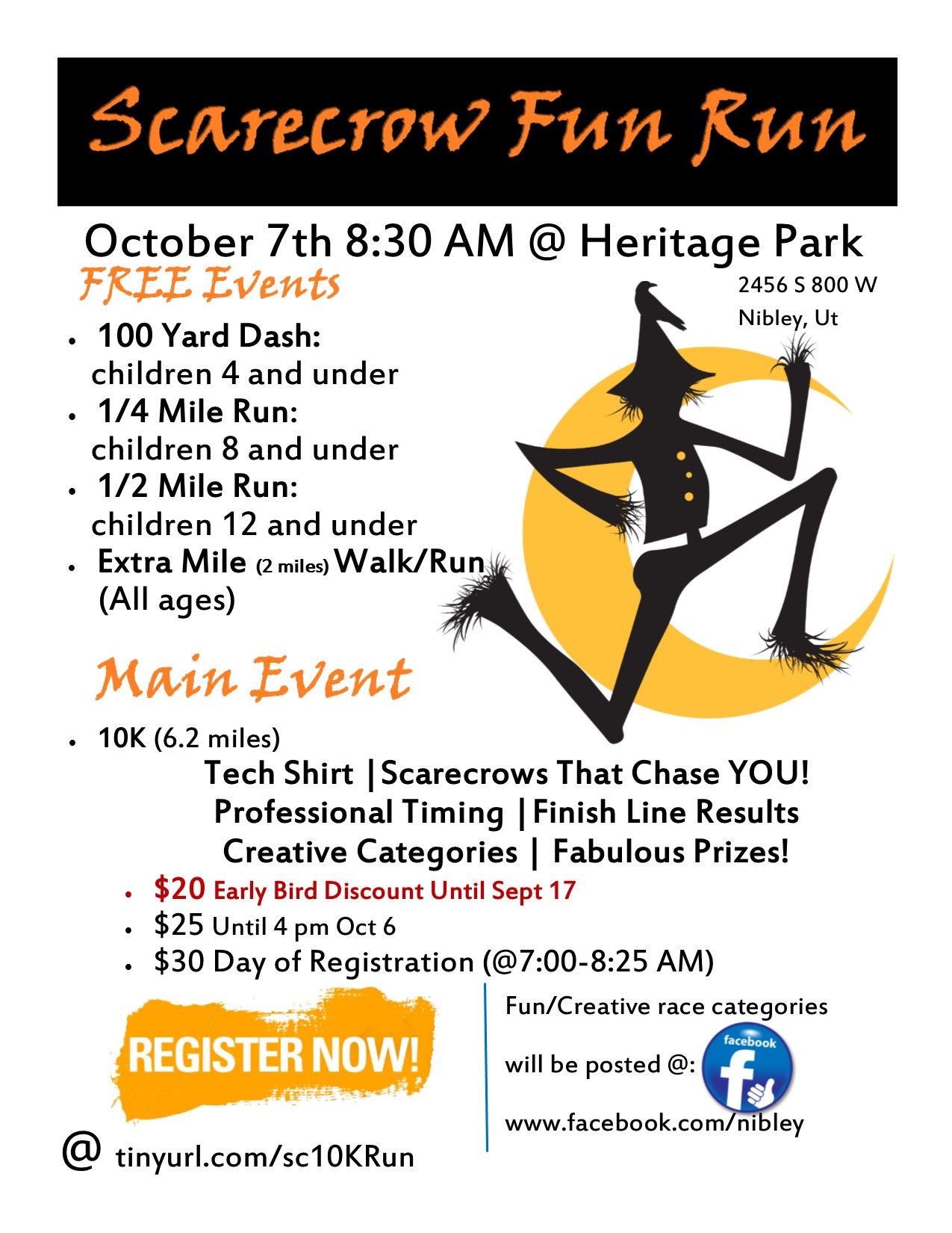 2017 Web Flyer Scare Crow Fun Run 8.5x11 Flyer
