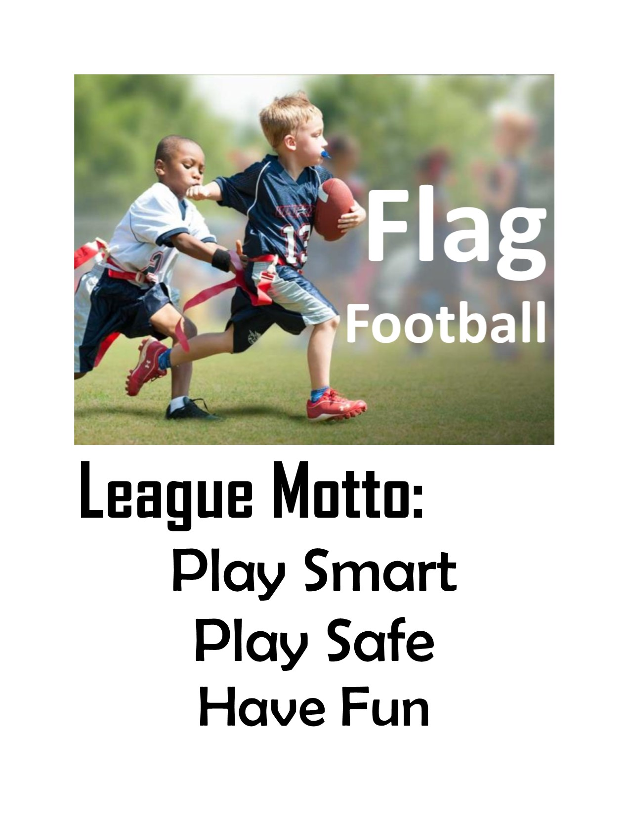 2018 Flag Football League Motto