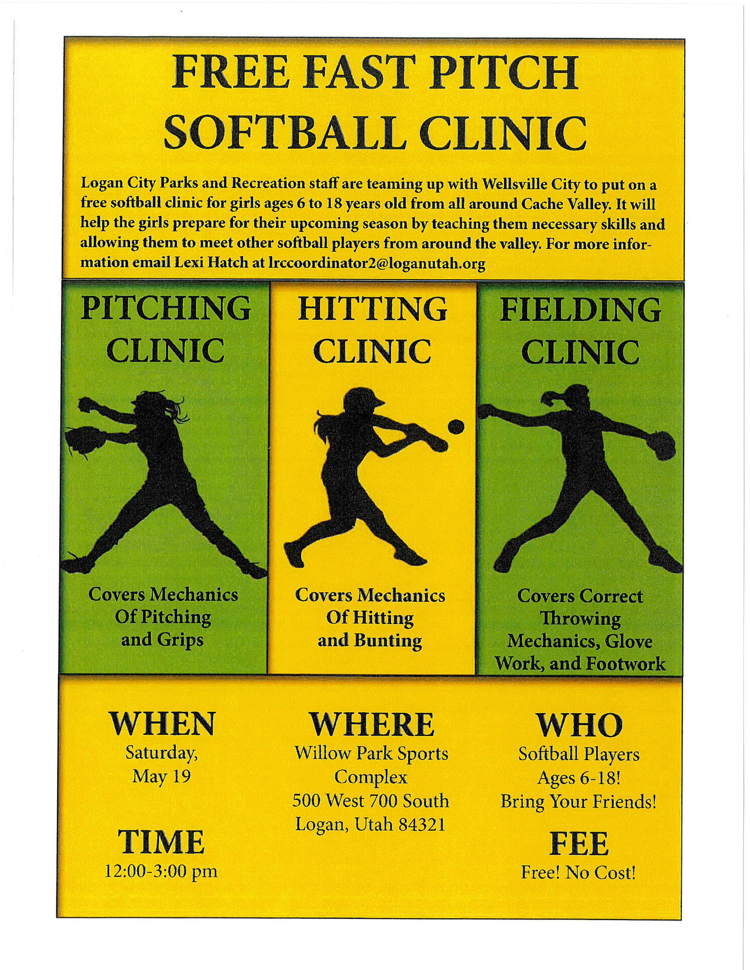 2018 Softball Clinic Flyer
