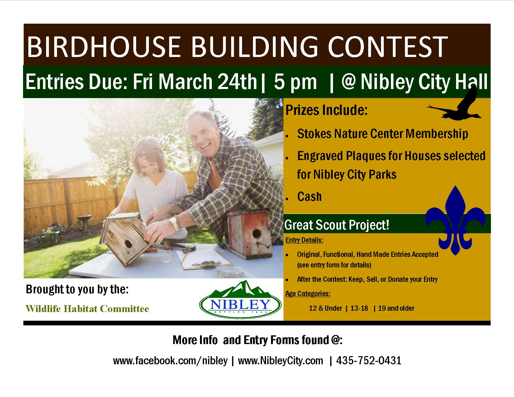 Birdhouse Building Contest 2017 Flyer