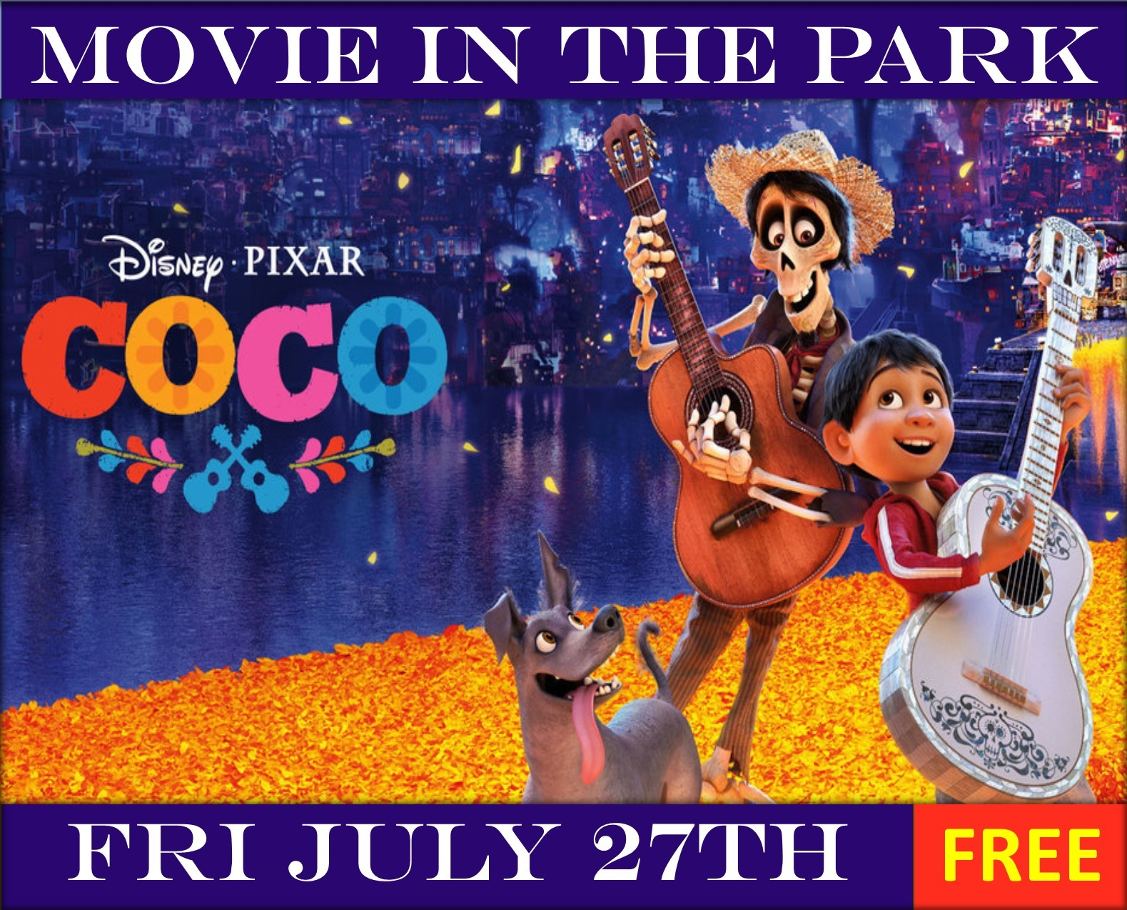 Coco Movie in the Park Banner