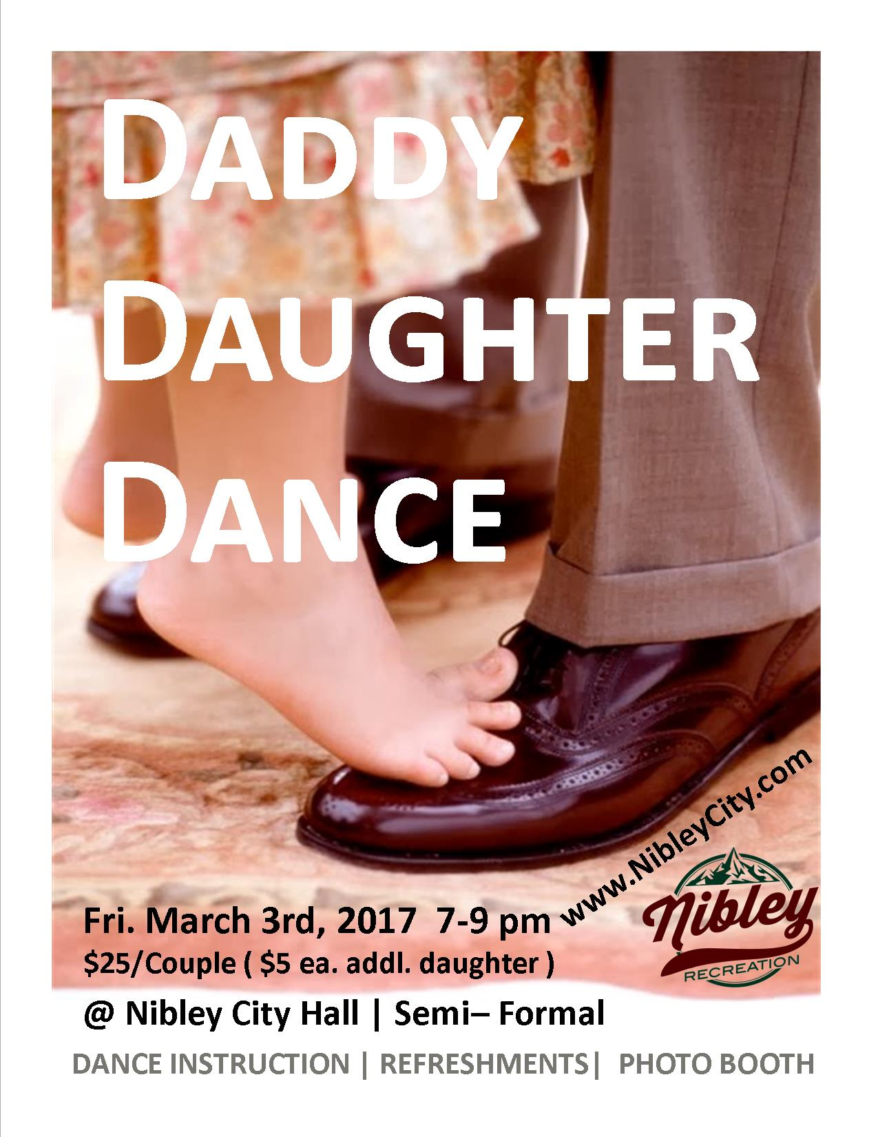 Daddy Daughter Dance Flyer 2017