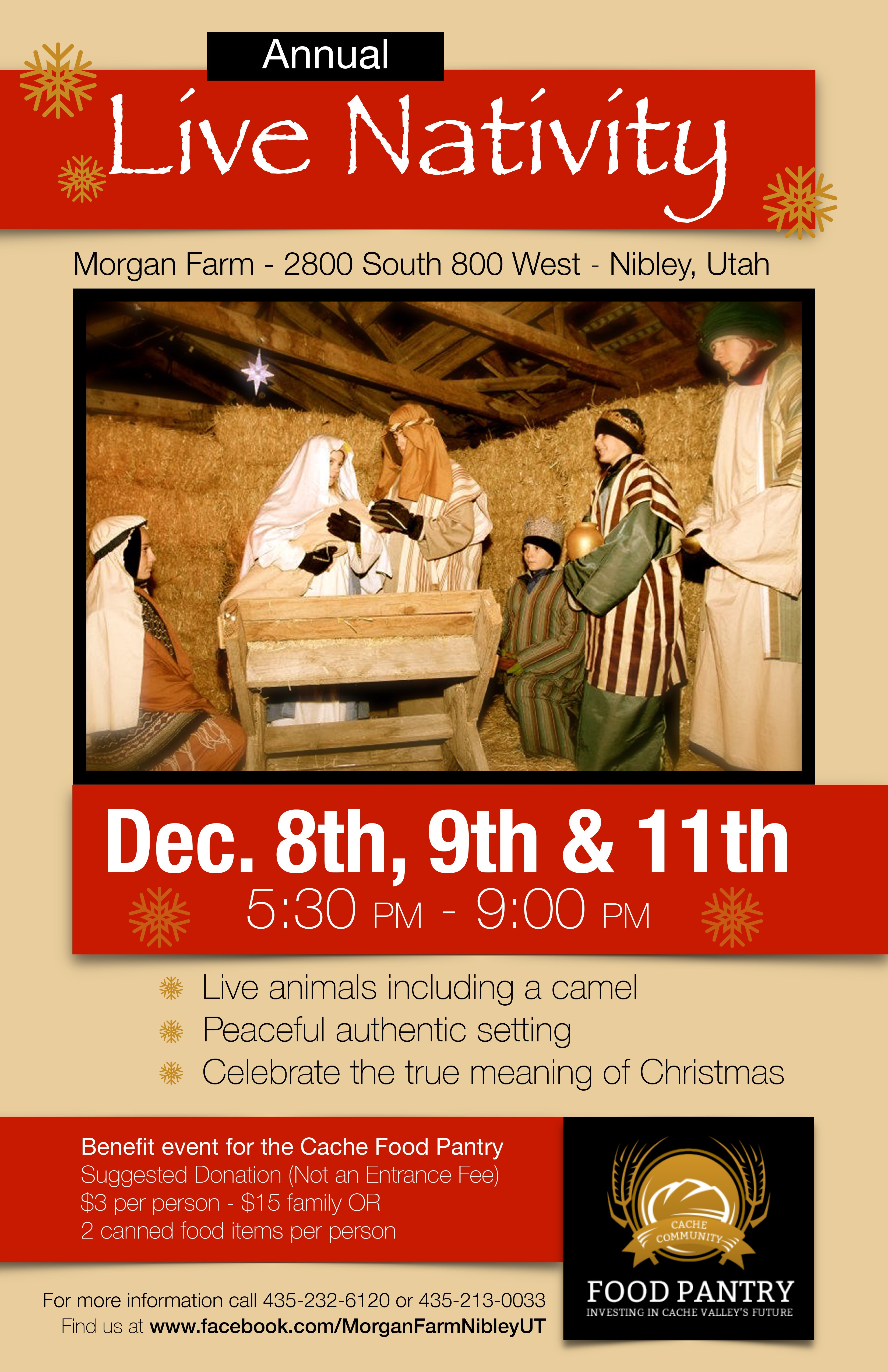 Live Nativity 2017 Flyer