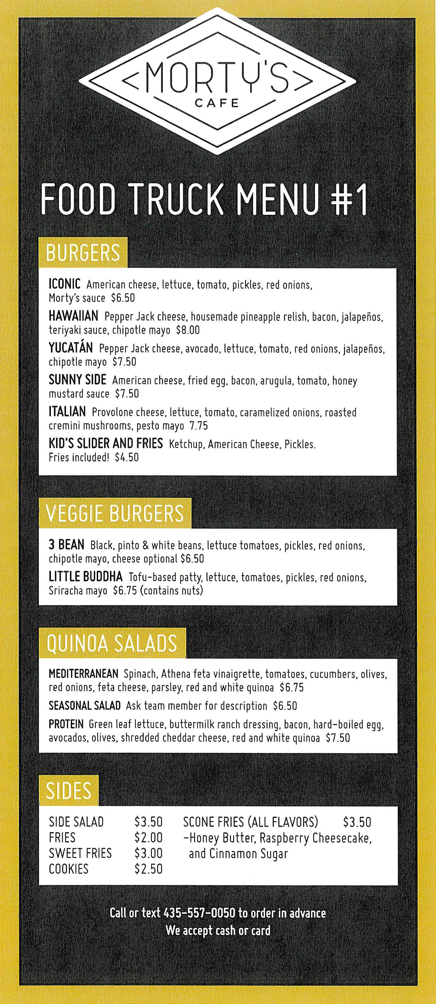 Morty Cafe Food Truck Menu 18