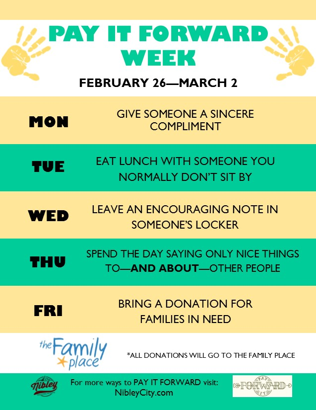 South Cache Pay It Forward Week